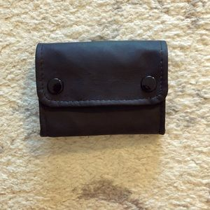 Other - Soft black leather tobacco pouch box wallet